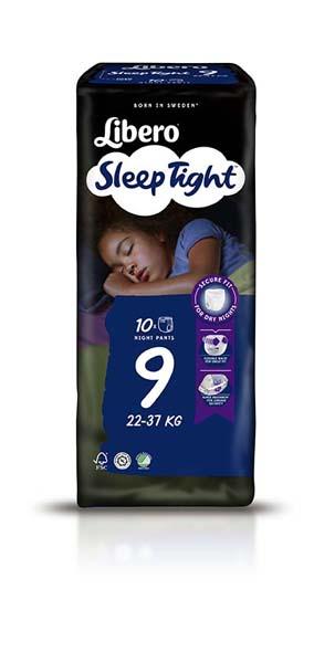 Bleie barn Libero Sleep Tight 9 10pk