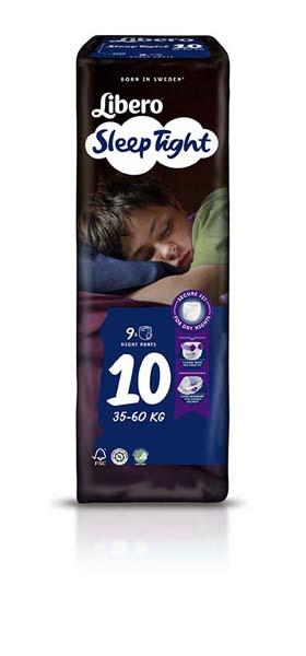 Bleie barn Libero Sleep Tight 10 9pk
