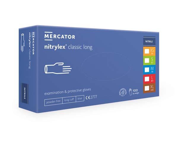 Hanske nitril Nitrylex Classic lang blå S