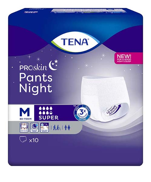 Bleie Tena Pants Super Night M 10pk