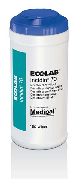 Klut Incidin 70 Ecolab 150stk