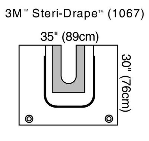 Oppdekning Steri-Drape 1067 U-duk m/pose