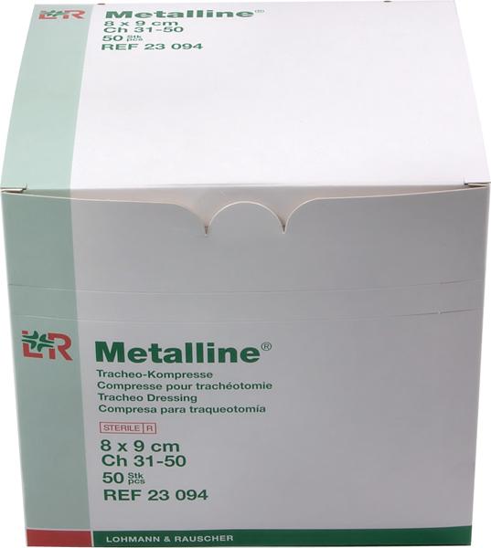 Kompress ikke heftede Metalline tracheostomi 8x9cm