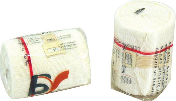 Universalbind elastisk BV 6cmx5m hvit