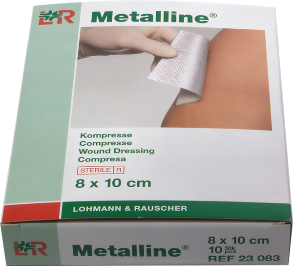 Kompress ikke heftende Metalline 8x10cm