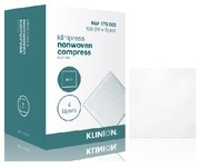 KOMPRESS NONW 4L KLINION 10X10CM STERIL 5-PACK