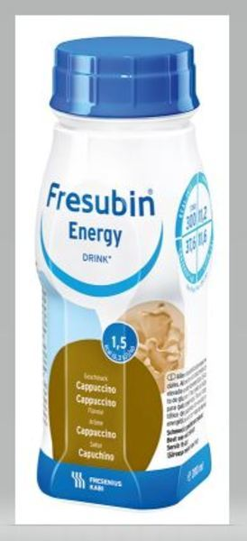 FRESUBIN ENERGY DRINK CAPPUCCINO 200ML Vnr 210371