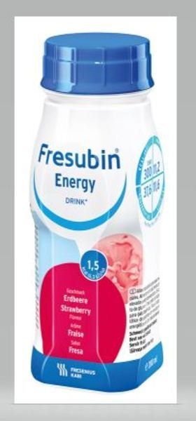 FRESUBIN ENERGY DRINK JORDGUBB 200ML Vnr 210373
