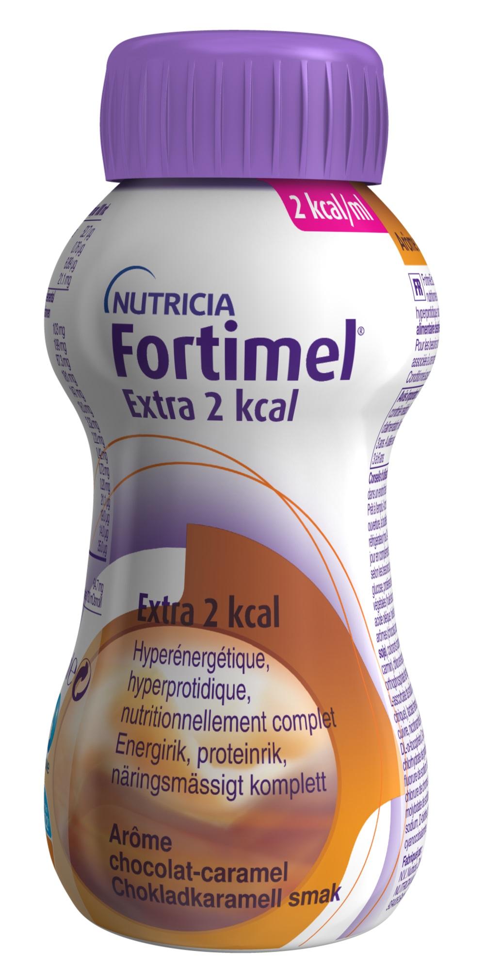 FORTIMEL EXTRA 2 KCAL  200 ML CHOK LAD/KARAMELL Vnr 900512