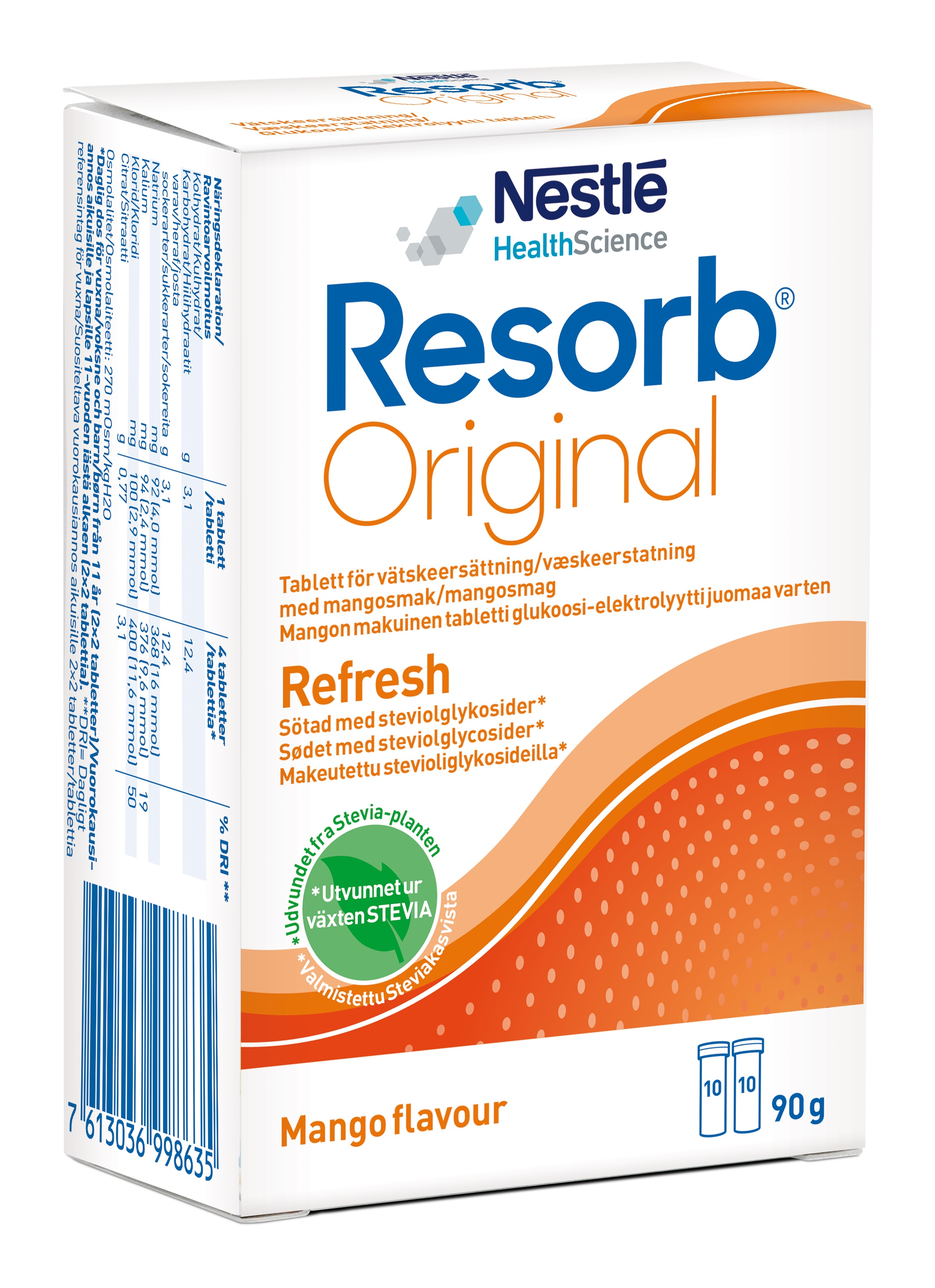 RESORB MANGO TABLETTER 2X10ST Vnr 900652