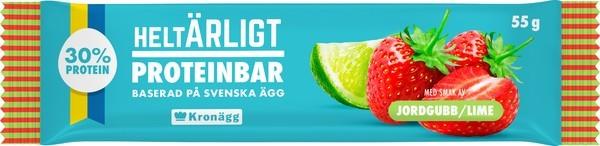 HELTÄRLIGT PROTEINBAR JORDGUBB/LIME 55G