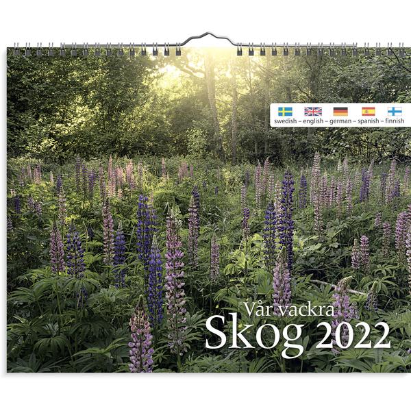 VÄGGKALENDER VÅR VACKRA SKOG 2020 300X480MM SPIRALBUNDEN