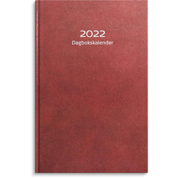 DAGBOKSKALENDER RÖD 2020 150X230MM INBUNDEN
