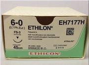 SUTUR ETHILON 6-0 FS-3 16MM STERIL 45CM SVART 3/8 CIRK OMV SKÄR