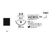 SUTUR VICRYL 2-0 X-1 22MM STERIL  70CM LILA 1/2 CIRK OMVSKÄR