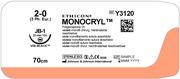 SUTUR MONOCRYL 2-0 JB-1 22MM STERIL 70CM LILA 1/2 CIRK TP