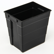 RISKAVFALLSBOX SAN SAC SVART 30L POLYPROPEN UTAN LOCK