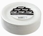 TALLRIK FLAT VIT 15CM PLAST ENGÅNGS