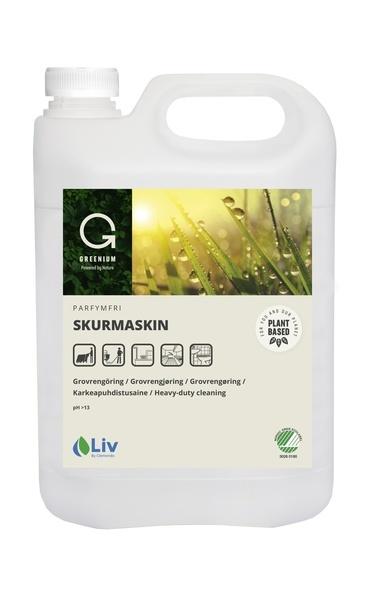 SKURMASKIN LIV GREENUIM 5L OPARFYMERAD PH CA 12