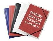 SNODDMAPP A4 3-KLAFF MED FICKA BLÅ MILJÖVÄNLIG PP