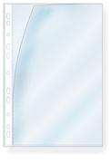PLASTFICKA A4 0,09MM HÅLAD TRANSP REFLEXFRI MILJÖVÄNLIG PP