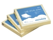 NOTES NICEDAY GUL 76X76MM 100 BLAD