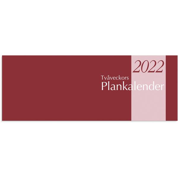 TVÅVECKORS PLANKALENDER 2020 510X95MM HÄFTAD