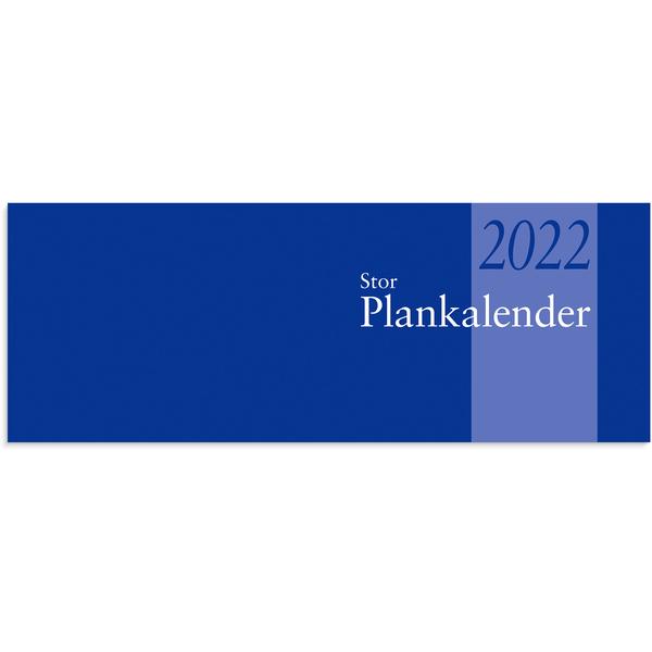 STOR PLANKALENDER 8-18 2020 510X95MM LIMBUNDEN