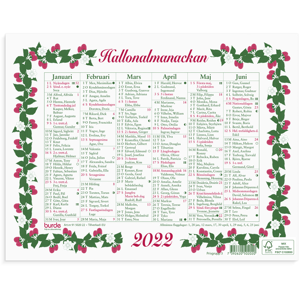 HALLONALMANACKAN 2020 LILLA 245X190MM