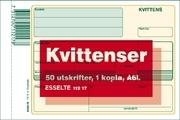 KVITTENSBLOCK A6L 50ST BLAD MED KOPIA