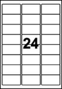 ETIKETT UNIVERSAL 70X36MM VIT 24ST ETIKETTER/A4-ARK