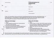 FÖRBRUKNINGSJOURNAL NARKOTIKA A5L