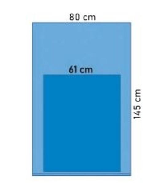 ASSISTANSB.LAKAN STERIDRAP 80X145CM STERIL